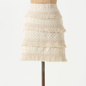 HD In Paris Tiered Fringe Embroidered Skirt \\ 2